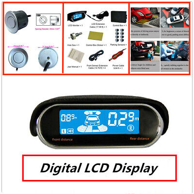 LCD Display Parking Sensor Car Reverse Radar Alarm Kit Matrix Light bar&digital comprar usado  Enviando para Brazil