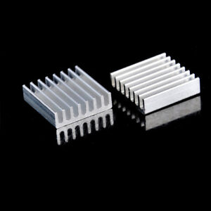 10Pcs 20mm x 20mm x 6mm Aluminum Heatsink For IC MOSFET SCR CPU Sm
