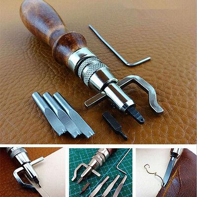 7 in 1 Multipurpose Leather Craft Tool Sew&Crease Leather Edge Beveler Tool IU