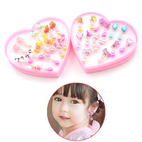 7Pairs Lovely Panada Flower Earrings Clip-On No Pierced Design For Kids Girls AL