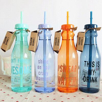 Plastikfruchtsaft-Wasser-Flaschen-Schale mit Stroh ZJP (Wasser-schale Mit Stroh)