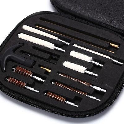 16Pcs Pistol Gun Cleaning Kit All Caliber 22 357 38 9mm Brush Rod for BeginnerBL