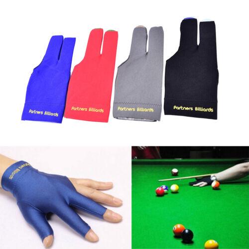blue Spandex Snooker Billiards Glove Pool Left Hands Open Three Finger Access~jp