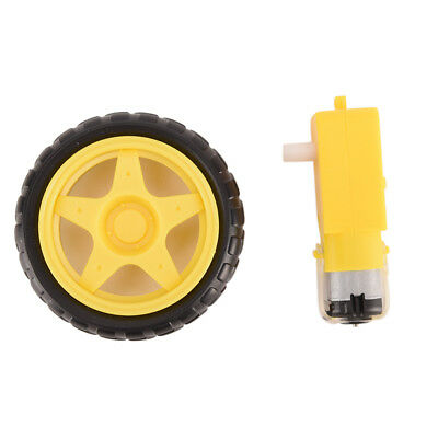 Arduino Smart Car Robot Plastic Tire Wheel With Dc 3-6v Gear Motor For Robot Lc