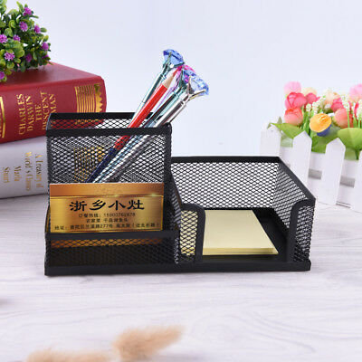 Metal Mesh Home Office Pen Pencils Holder Desk Stationery Storage Organizer Fad