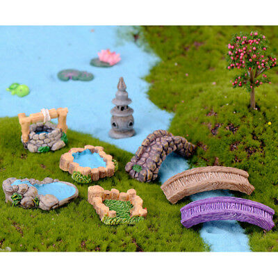Mini Resin Ornament - DIY resin mini miniature fairy garden ornament craft house decor accessories UCO