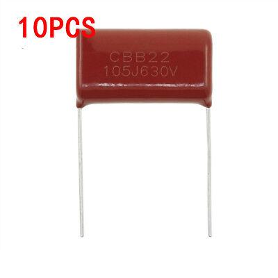 10pcs 630v 1uf 105j Cbb Polypropylene Film Capacitor