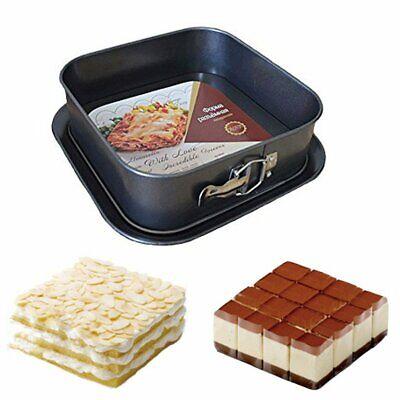 Non-Stick Cheesecake Pan Springform Pan Square Cake Pan with Removable Bottom Non Stick Square Springform Pan