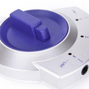 Digital Audio Optical Fiber Cable Adapter 3-Way Switch Selector Splitter Best GS
