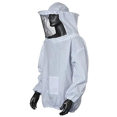 Protective Beekeeping Jacket Veil Smock Equipment Bee Keeping Hat Sleeve Suit Qh