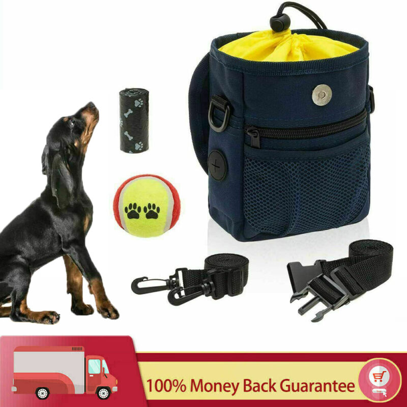 Pet Treat Pouch Bag Pouch Carries with Adjustable Belt for Training Walking