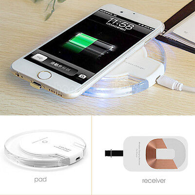 QI Wireless Charger Pad Cable Receiver Charging Dock for iPh