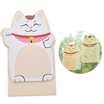 Korean Lucky Cat Beckoning Maneki Neko Memo Bookmark Sticky NotODYJMO