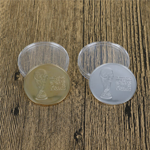 1pc Russian 2018 World Cup Commemorative Coin Football Collection Coins MandC