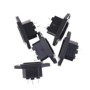 5Pcs 3P IEC 320 C14 Male Plug Panel Power Inlet Socket Connector AC 250V 10ALB