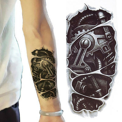 3D Waterproof Robot Arm Temporary Tattoo  Stickers Body Art Removable Tatoos - Temporary Tatoos