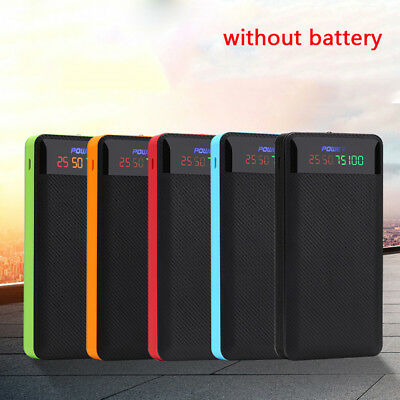 Usb 4 x18650 battery case charging power supply diy powerbank charger cover EEC ()
