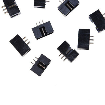10pcs Dc3-6p 2.54mm 2x3 Pin Straight Male Shrouded Header Idc Socket U0b