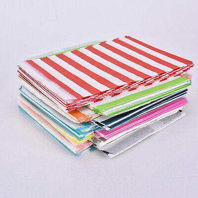 Candy Stripe Paper Bags Sweet Favour Buffet Shop Party Sweets Cake Wedding.RDRW