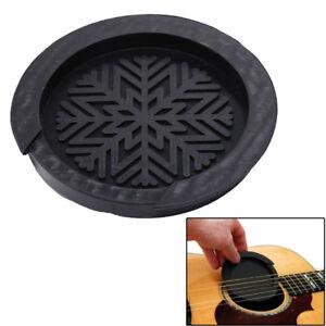 Acoustic Guitar Sound Hole Cover Rubber Musical Guitar Accessory black color FI