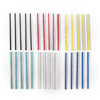 30x 40pin Connector Male 2.54mm Pitch Pin Header Strip Single Row Kit For Pcb Vi