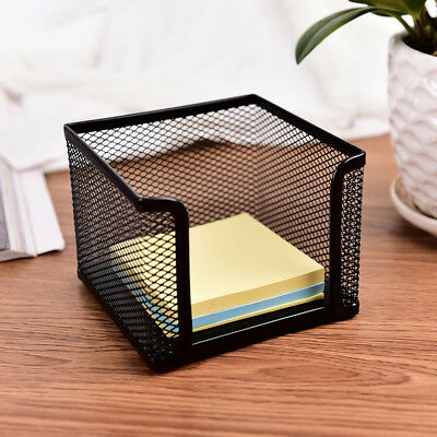 Metal Mesh Office Supplies Storage Rack Mail Organizer Memo Pad Holder Black Lb