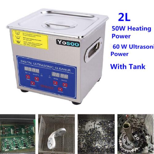 2L Digital Industrial Heated Ultrasonic Cleaner W. Tank Time