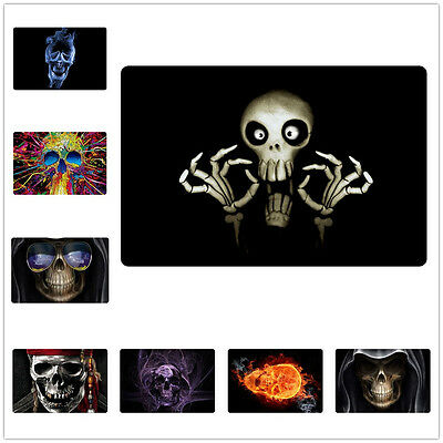 Novelty Skull Indoor Room Door Mats Halloween Decor Bathroom Inside Floor Black  - Halloween Door Mats
