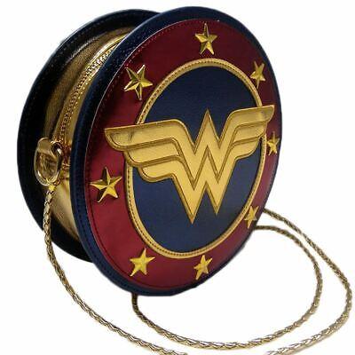 Offiziell Lizenziert Dc Comics Wonder Woman Rund Schild Tasche
