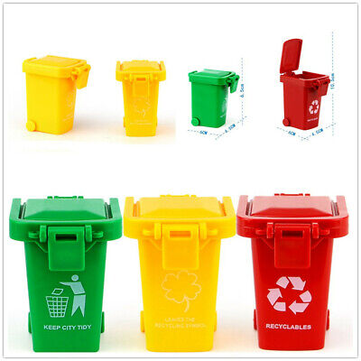 Mini 3 Trash Can Toy Garbage Truck Cans Original Color Curbside Vehicle Bin Toys (Toy Garbage Cans)