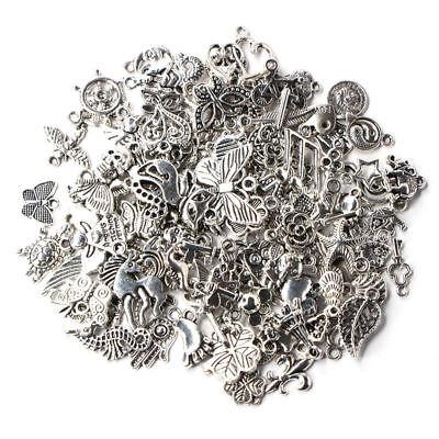 Wholesale 100pcs Bulk Lots Tibetan Silver Mix Charm Pendants Jewelry DIY JE