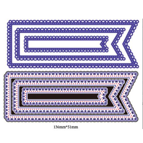 3Pcs Lace Design Metal Cutting Dies For DIY Scrapbooking Album Paper Cards XR - $9.76