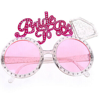 Bride To Be Glasses Pink Diamond Ring Shower Bride Sunglasses Bachelorette`PJKU