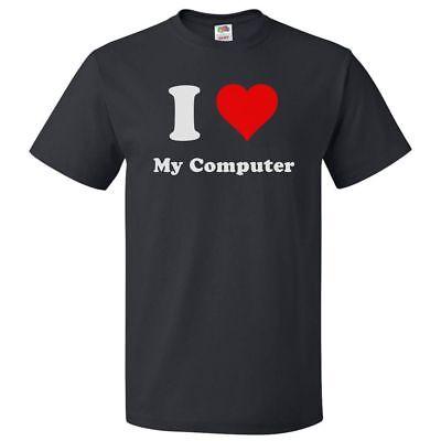 I Love My Computer T Shirt I Heart My Computer Tee