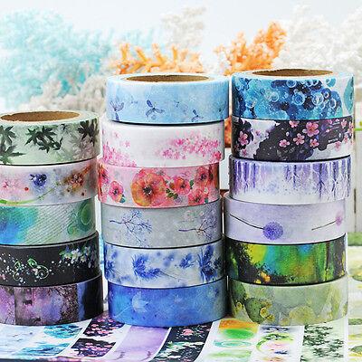 12 Rolle Folia Washitape Washi Masking Tape Klebeband Scrapbooking Basteln