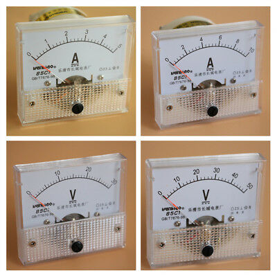 Analog Panel Ammeter Current Voltmeter Gauge Dc0-30ma5a10a0-30v50v Class 2.5