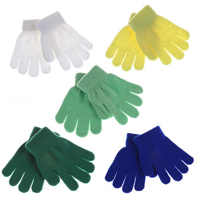 Baby Kids Gloves Knitted Stretch Mittens Solid Girls Gloves Full Finger Glove OJ