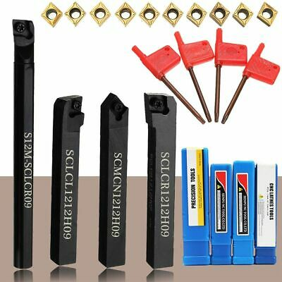 Lathe Turning Tool Impact Resistance Carbide Insert Blades Holder Wrench Machine