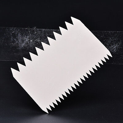 Cake Double-side Teeth Scraper Decorating Cutter Smoother Kitchen Tools Funny HU