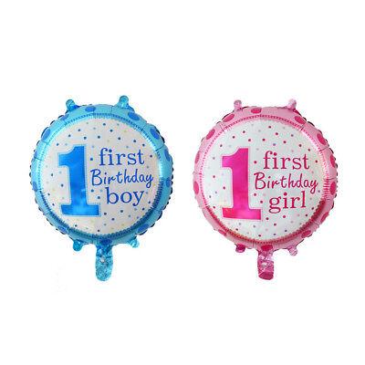 1 first birthday boy girl inflatable foils balloon decor for kid one birthday LY - Birthday Decoration For Boy