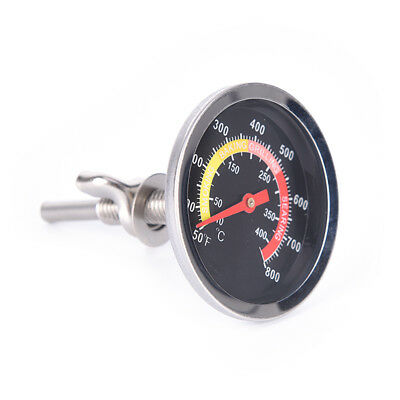50-400℃ Barbecue BBQ Smoker Grill Stainless Steel Temperature Thermometer Gauge.