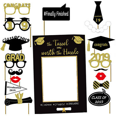 Graduation Photo Booth Props Kit Party Favor 2019 Graduation Party Decor Set - Photo Booth Props Graduation