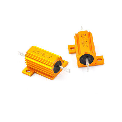 25 Watt Power 0.01-100 Ohm 5 Aluminum Casing Wire Wound Resistor Gx