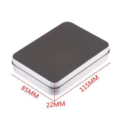 Tin Higen Lid Small Empty Silver Metal Storage Box Case Organizer Survival Kit))