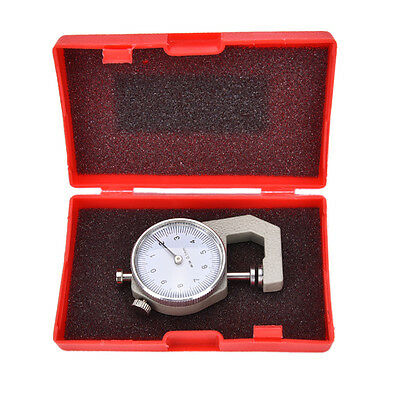 Thickness Measure Round Dial Gauge Gage Tester Leather Craft Pocket 0-10mm Gj