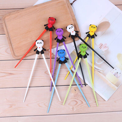 1Pair kids children training chopsticks silicone pandahelper learning gift toyUE