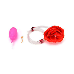 Water Squirt Rose Clown Flower Magic Trick Joke Funny Prank Kids Prankster PT