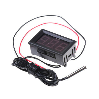 Red Dc12v Digital Thermometer With Temp Probe -50110c Temperature Detector Sku