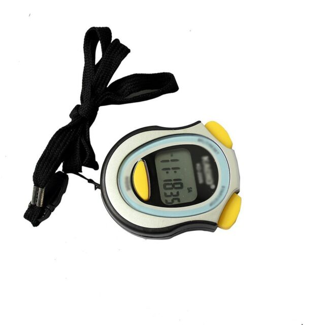 Digital Running Timer Chronograph Stopwatch Counter with Strap Pop BT