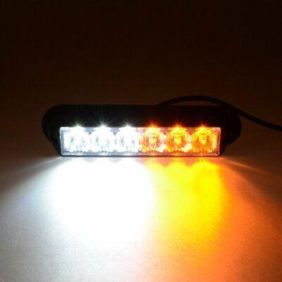 2 Foot 2ft LED Lightbar Bolt Mount Recovery Flashing Warning Strobe Amber Beacon